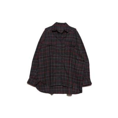 スタイルブロック STYLEBLOCK ネルチェックビッグシャツ (ブラック)