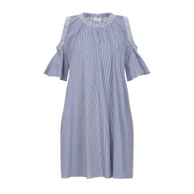SUOLI ミニワンピース&ドレス ダークブルー 40 コットン 72% / ナイロン 25% / ポリウレタン 3% ミニワンピース&ドレス
