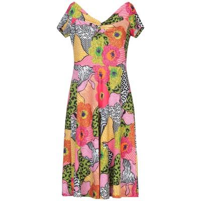 SANDRO FERRONE ミニワンピース&ドレス グリーン M ポリエステル 96% / ポリウレタン 4% ミニワンピース&ドレス