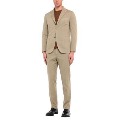 ボリオリ BOGLIOLI スーツ カーキ 54 コットン 98% / ポリウレタン 2% スーツ