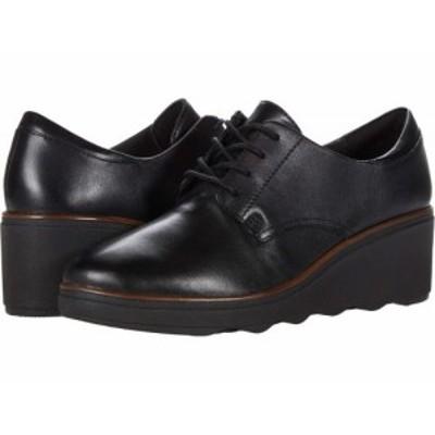 Clarks クラークス レディース 女性用 シューズ 靴 オックスフォード ビジネスシューズ 通勤靴 Mazy Hyannis Black Leather【送料無料】