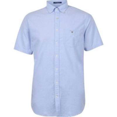 ガント Gant メンズ 半袖シャツ トップス Short Sleeve Oxford Shirt Pale Blue