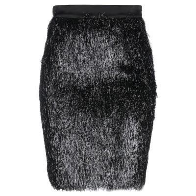 ブルマリン BLUMARINE ひざ丈スカート ブラック 40 ナイロン / レーヨン / シルク ひざ丈スカート
