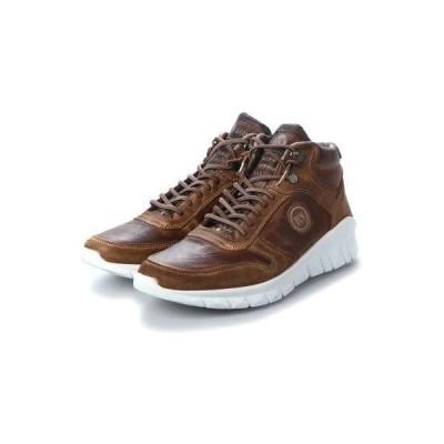 ヨーロッパコンフォートシューズ EU Comfort Shoes BCN ハイカットスニーカー(C-1040F) (ダークブラウン)