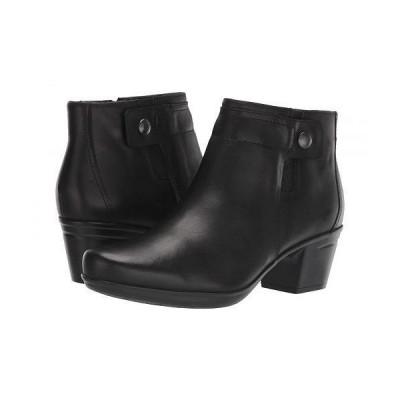 Clarks クラークス レディース 女性用 シューズ 靴 ブーツ アンクル ショートブーツ Emslie Jada - Black Leather