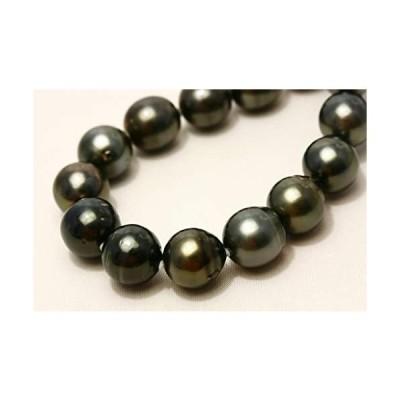タヒチ黒蝶真珠パールネックレス ブラックカラー 12-10mm