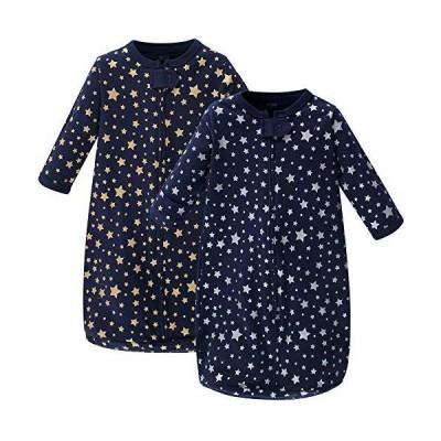 Hudson Baby unisex baby Cotton Long-Sleeve Sleeping Bag, Sack, Wearable Bla