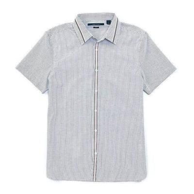 ペリーエリス メンズ シャツ トップス Slim-Fit Stripe Dobby Short-Sleeve Woven Shirt Powder Pink