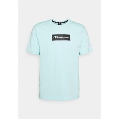 チャンピオン Tシャツ メンズ トップス CREWNECK - Print T-shirt - light blue