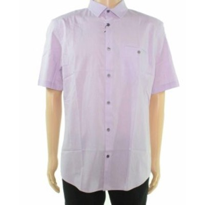 Alfani  ファッション アウター Alfani NEW Purple Mens Size Large L Pocket Chest Button Up Shirt