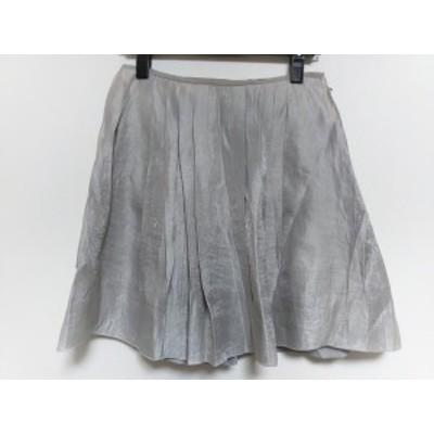 ボディドレッシングデラックス BODY DRESSING Deluxe スカート サイズ38 M レディース シルバー×ライトグレー【中古】