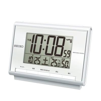 SEIKO セイコー 温湿度表示付電波時計 SQ698S