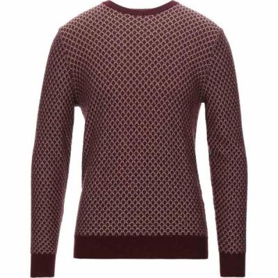 ブイネック VNECK メンズ ニット・セーター トップス sweater Maroon