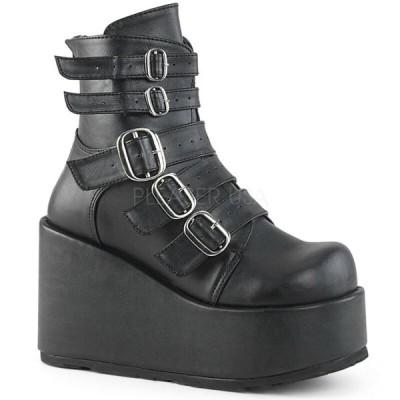 厚底 ブーツ モニ レディース Demonia CONCORD-57 Womens Vegan Platform Ankle Boots