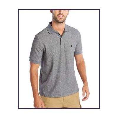 Nautica Men's Classic Short Sleeve Solid Polo Shirt, Charcoal Heather, X-Small【並行輸入品】
