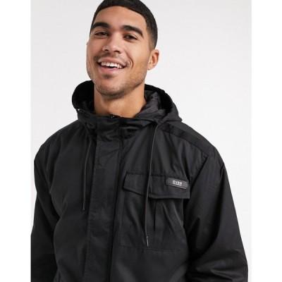 リバーアイランド River Island メンズ コート アウター Lightweight Parka ブラック