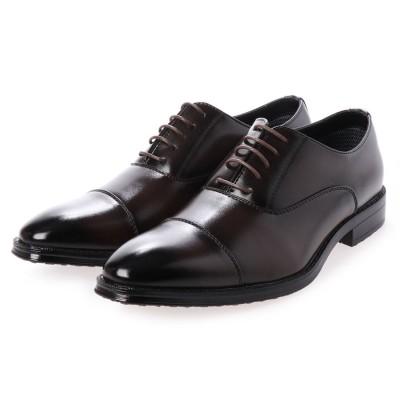 トウキョウブラザー TOKYO BROTHER メンズ ビジネスシューズ 紳士靴 ドレスシューズ 防滑 ストレートチップ 撥水加工  履き心地 (ブラウン)
