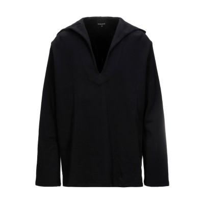 アン ドゥムルメステール ANN DEMEULEMEESTER スウェットシャツ ブラック XS コットン 100% スウェットシャツ