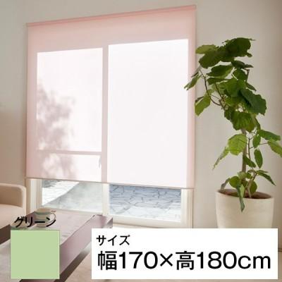立川機工 ティオリオ ロールスクリーン 遮光2級防炎 170×180 グリーン メーカー直送