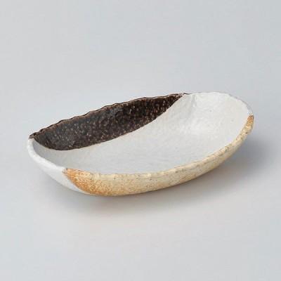 アメ塗分7.0舟型ボール 和食器 楕円多用鉢 業務用 約21.5cm 和食 和風 鉢 サラダ 煮物 揚げ物 刺身 人気 おしゃれ