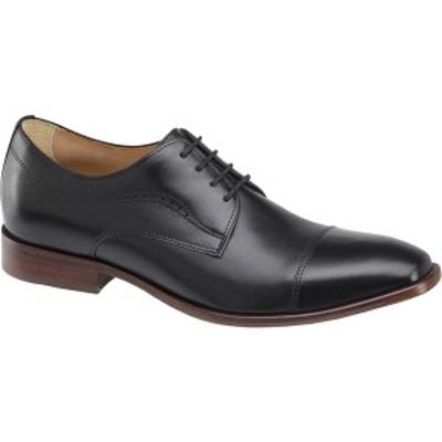 ジョンストンアンドマーフィー メンズ ドレスシューズ シューズ McClain Cap Toe Oxford Black Full Grain Leather