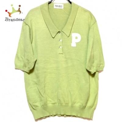 ピンクハウス PINK HOUSE レディース - イエローグリーン×白 新着 20210508