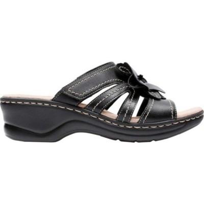 クラークス レディース サンダル シューズ Lexi Opal Slide Black Full Grain Leather