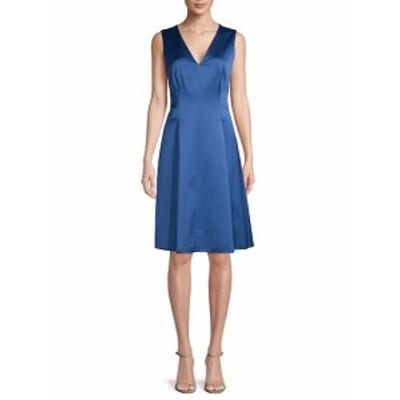 アンクライン レディース ワンピース Sleeveless Pleated Dress