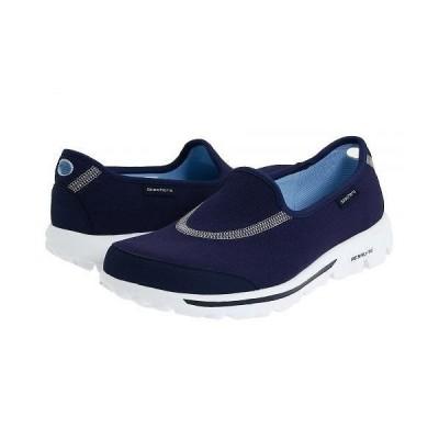 SKECHERS Performance スケッチャーズ レディース 女性用 シューズ 靴 フラット GOwalk - Navy/White