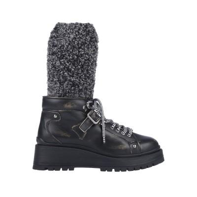 ミュウミュウ MIU MIU ブーツ ブラック 35 牛革(カーフ) / 紡績繊維 ブーツ