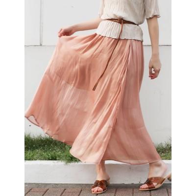 【公式】dazzlin(ダズリン)ミラーリングプリーツマキシスカート