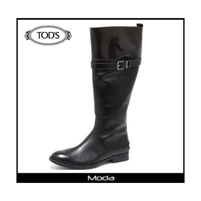 トッズ ブーツ レディース TOD'S 靴 ブラック レザー ロングブーツ
