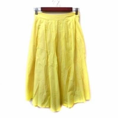 【中古】スピック&スパン Spick&Span フレアスカート ギャザー ロング 36 黄色 イエロー /YI レディース