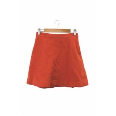 【中古】イエナ スローブ IENA SLOBE スカート フレア ミニ ウール 34 オレンジ /RT34 レディース