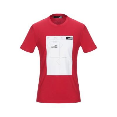 ラブ モスキーノ LOVE MOSCHINO T シャツ レッド XL コットン 95% / ポリウレタン 5% T シャツ