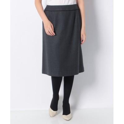 【ラピーヌ ブランシュ】 スーパーサキソニー スカート レディース グレーB 38 LAPINE BLANCHE