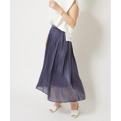 COLLAGE GALLARDAGALANTE / 楊柳ギャザーフレアスカート WOMEN スカート > スカート