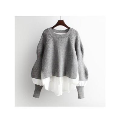 ニット セーター 2020 秋冬 韓国 ルーズ プルオーバー セーター 女性
