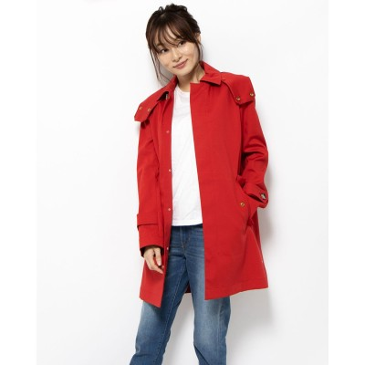 【BED&BREAKFAST】Standard Stand Fall Collar Coat (RED)