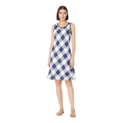 トリバル レディース ワンピース トップス Yarn-Dye Slub Sleeveless Bias Dress
