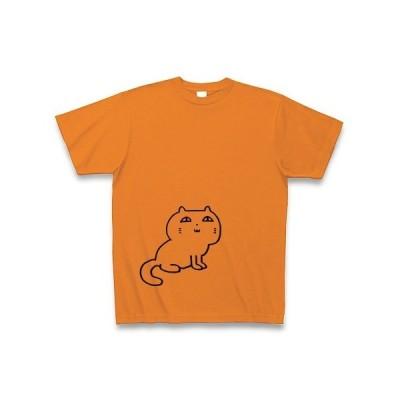 空を見てるねこ Tシャツ(オレンジ)