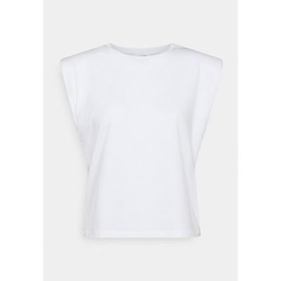 オブジェクト プティ Tシャツ レディース トップス OBJSTEPHANIE JEANETTE - Print T-shirt - white