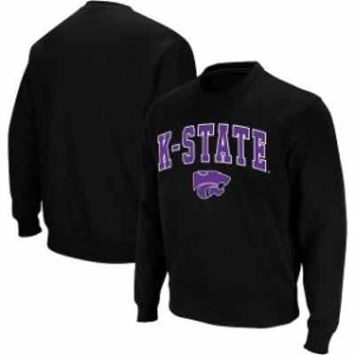 Colosseum コロセウム スポーツ用品  Colosseum Kansas State Wildcats Black Arch & Logo Crew Neck Sweatshirt