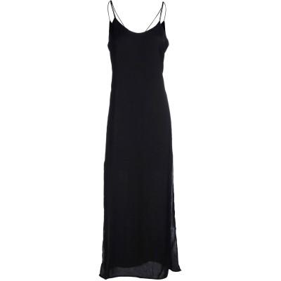 WEILI ZHENG ロングワンピース&ドレス ブラック M ポリエステル 100% ロングワンピース&ドレス