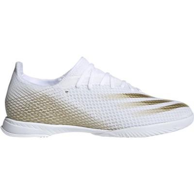 アディダス adidas メンズ サッカー シューズ・靴 X Ghosted.3 IN Ftwr White/Met. Gold Melange/Ftwr White