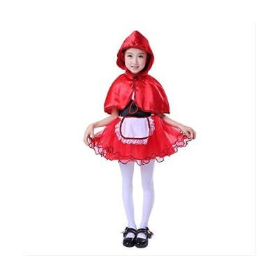 mrcos ハロウィン コスプレ 赤ずきん ワンピース ドレス 帽子付き 長袖 娘 子供用 子供服 コスプレ コスチュー・・・