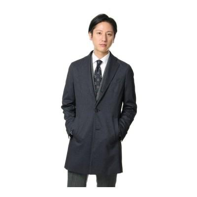 秋冬用 ネイビー系 シングルチェスタースタイリッシュコート【合繊】 URBAN SETTER BLACK