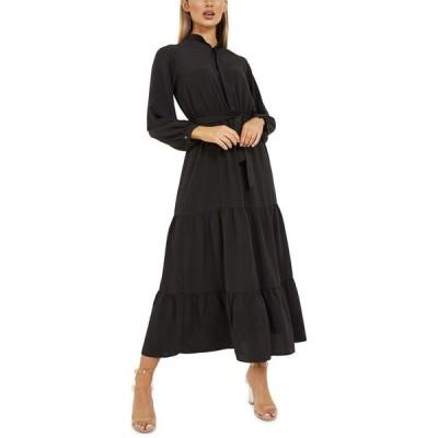 クイズ レディース ワンピース トップス Tiered Maxi Dress