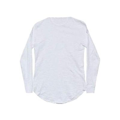 ユアン ユアン Tシャツ ロンT カットソー レイヤード 無地 長袖 メンズ (XL, ホワイト)