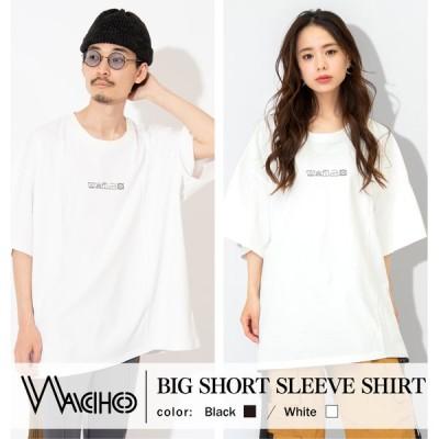 ランドリープリント ビッグシルエット Tシャツ 半袖Tシャツ ビッグT 半袖 オーバーサイズ 夏 春 プリントT プリント ブランド WACHO